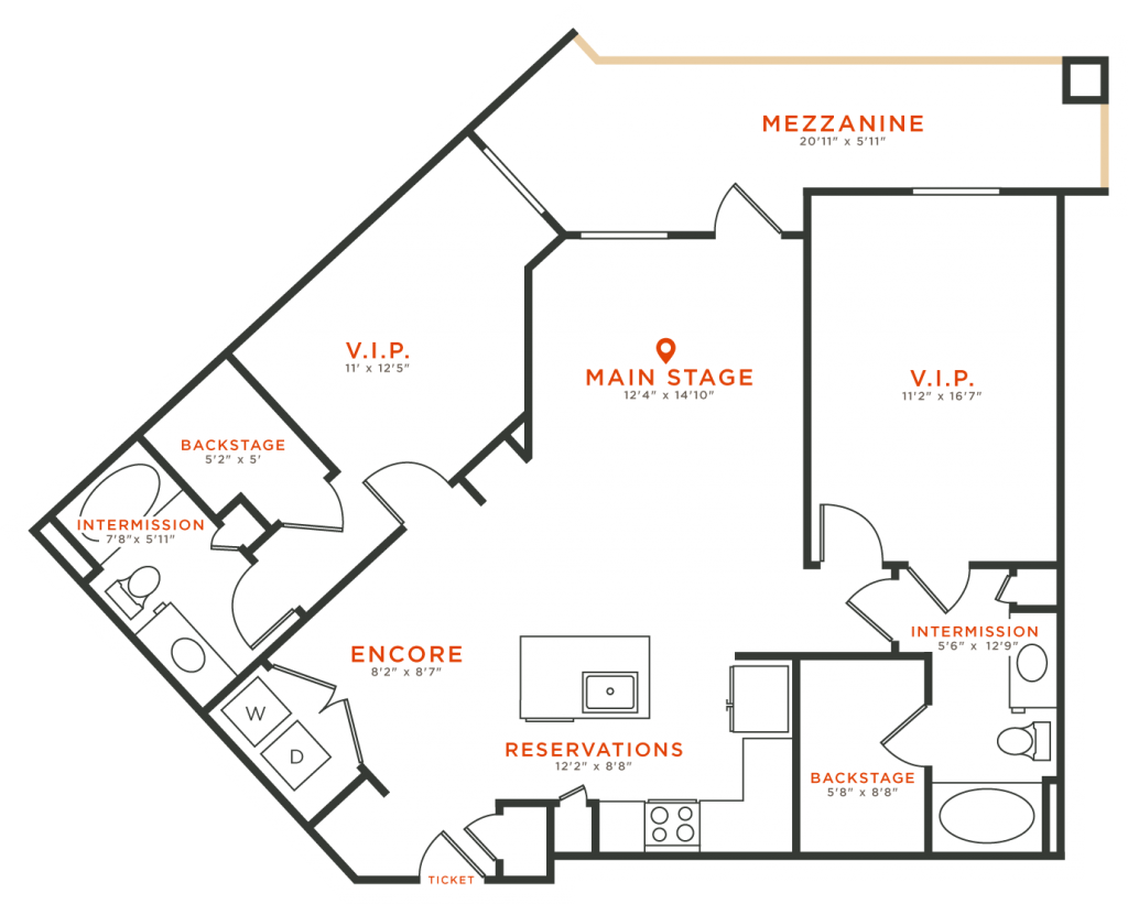 1,186 sq. ft. B6 floor plan