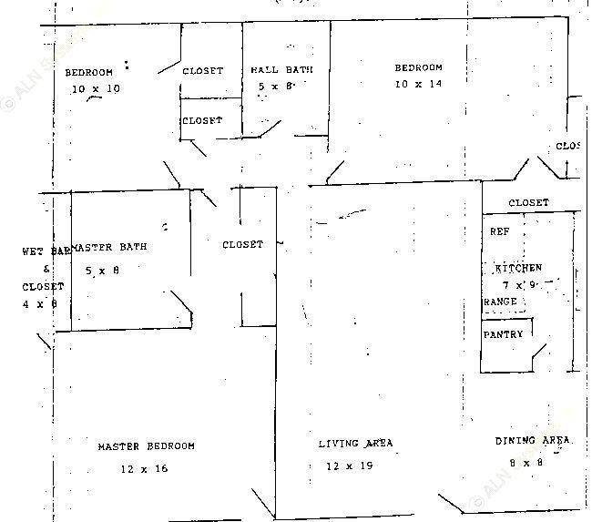 1,186 sq. ft. C1 floor plan