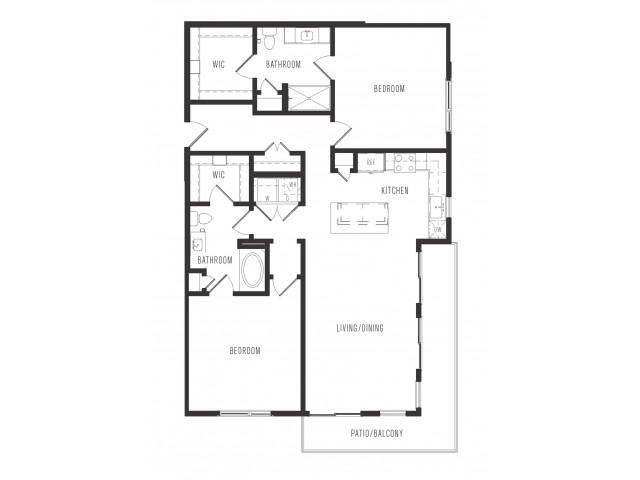 1,301 sq. ft. B3 floor plan