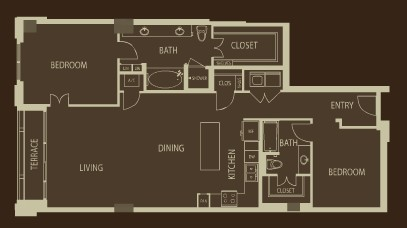 1,545 sq. ft. B2 floor plan
