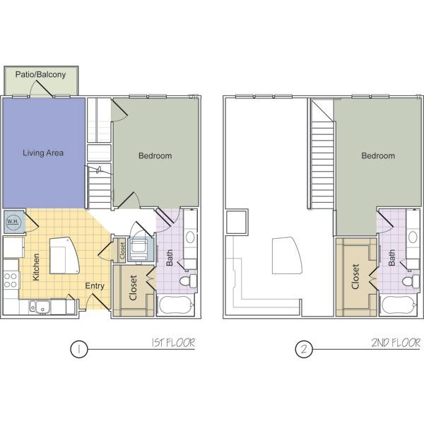1,188 sq. ft. Rivington (B2D) floor plan