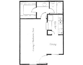 441 sq. ft. floor plan