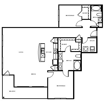1,654 sq. ft. London floor plan