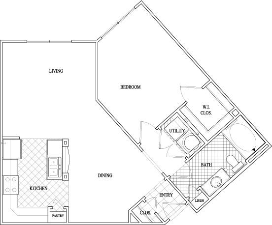 779 sq. ft. floor plan