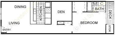 813 sq. ft. floor plan