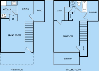 795 sq. ft. E floor plan