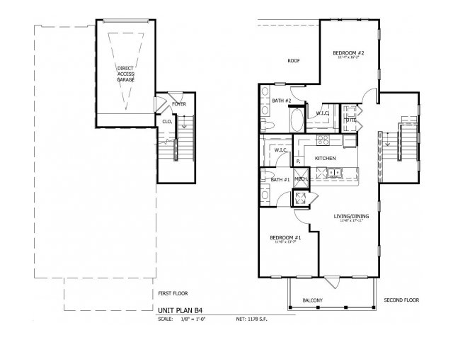 1,271 sq. ft. THB.4G floor plan
