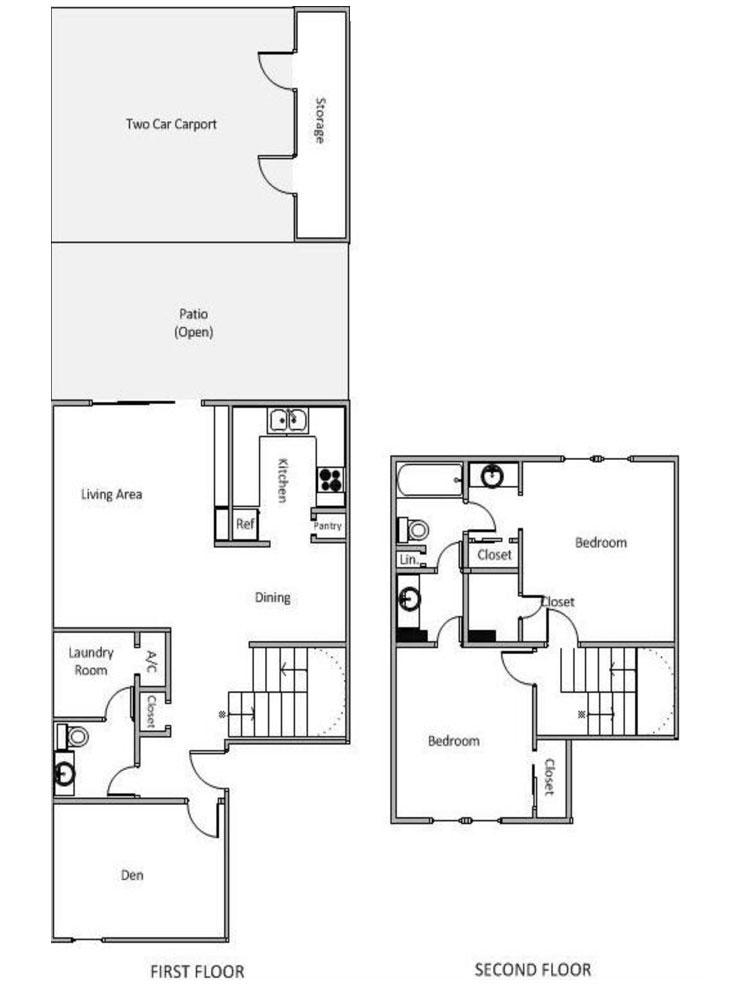 1,233 sq. ft. I floor plan