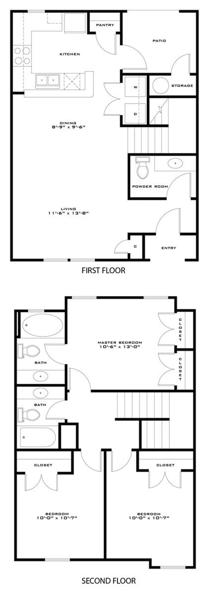 1,191 sq. ft. 50%/Madison floor plan