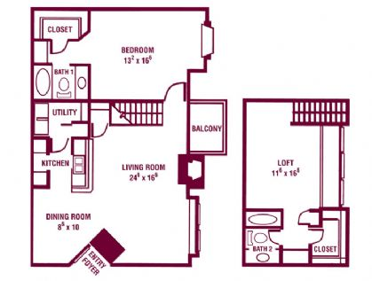 1,300 sq. ft. Silver Maple floor plan