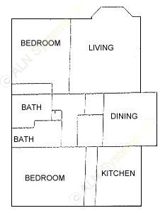 1,114 sq. ft. floor plan