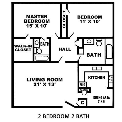 1,040 sq. ft. G floor plan