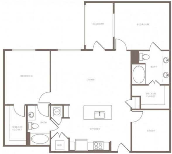 1,313 sq. ft. B2S floor plan
