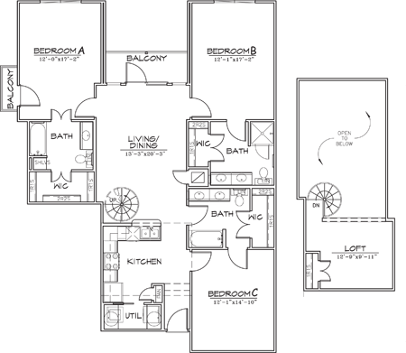 1,626 sq. ft. floor plan