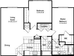 1,047 sq. ft. floor plan
