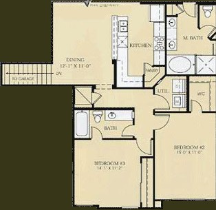 1,537 sq. ft. to 1,717 sq. ft. C3/C4 - MILLET/ROUSSEAU floor plan