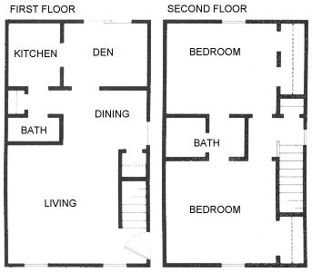 1,332 sq. ft. C5 floor plan