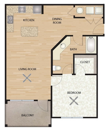 751 sq. ft. A2/Esperanza floor plan