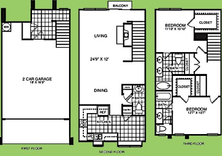 1,439 sq. ft. B2.5TBR floor plan