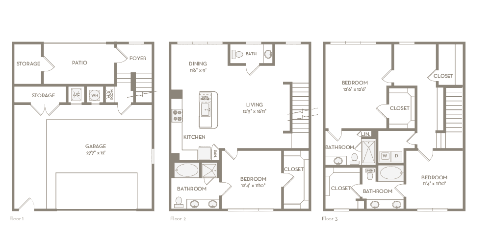 1,848 sq. ft. TH4 floor plan