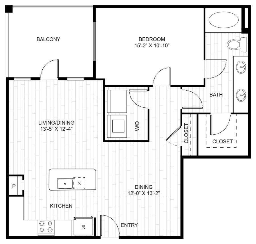 920 sq. ft. A4 floor plan