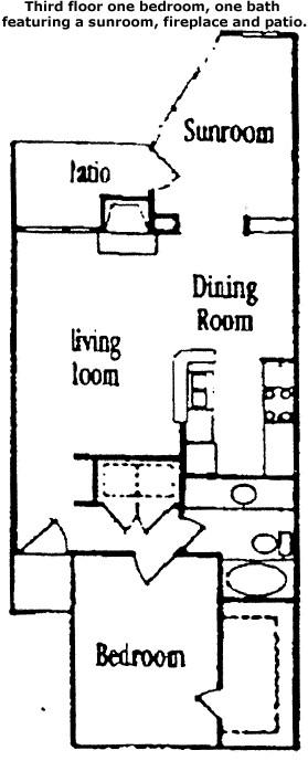 859 sq. ft. Cedar floor plan