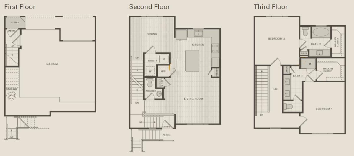 1,463 sq. ft. C3 floor plan