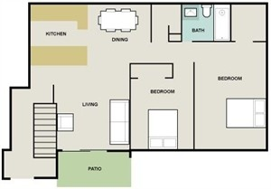 952 sq. ft. Riviera floor plan