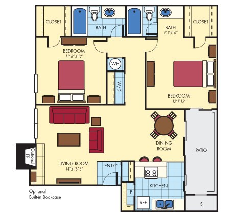 1,004 sq. ft. Capital floor plan