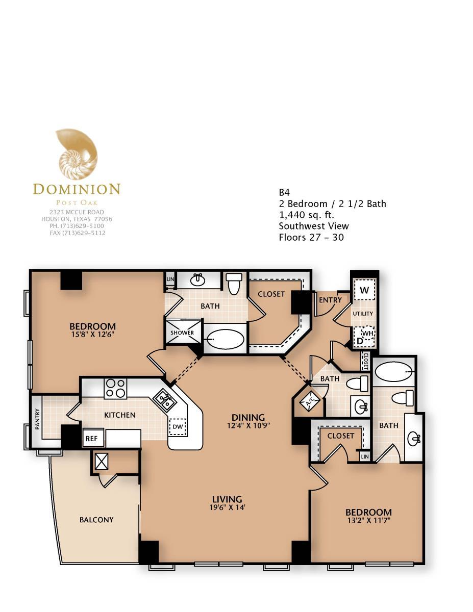 1,440 sq. ft. B4 floor plan