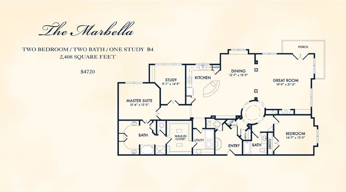 2,408 sq. ft. MARBELLA floor plan