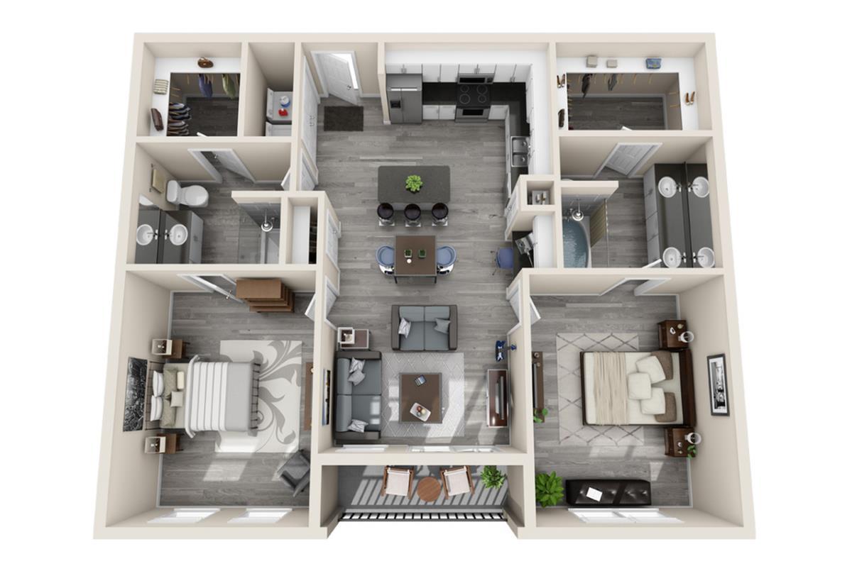 1,032 sq. ft. Manhattan floor plan