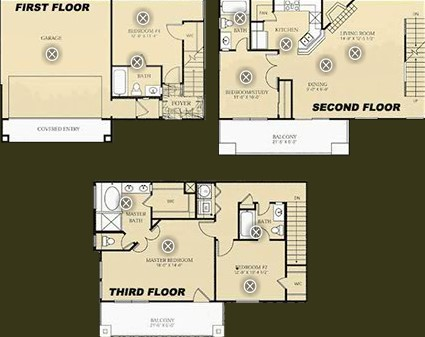1,787 sq. ft. to 1,799 sq. ft. D1- Degas floor plan