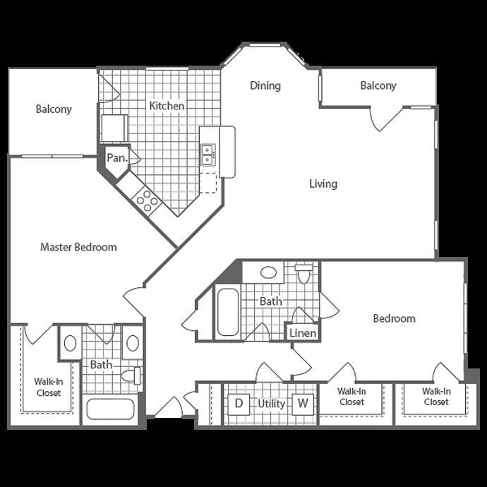 1,333 sq. ft. Findlay floor plan