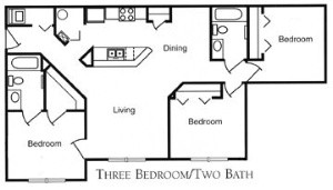 1,174 sq. ft. 60 floor plan