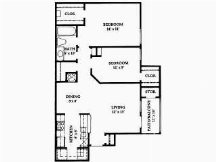 856 sq. ft. floor plan