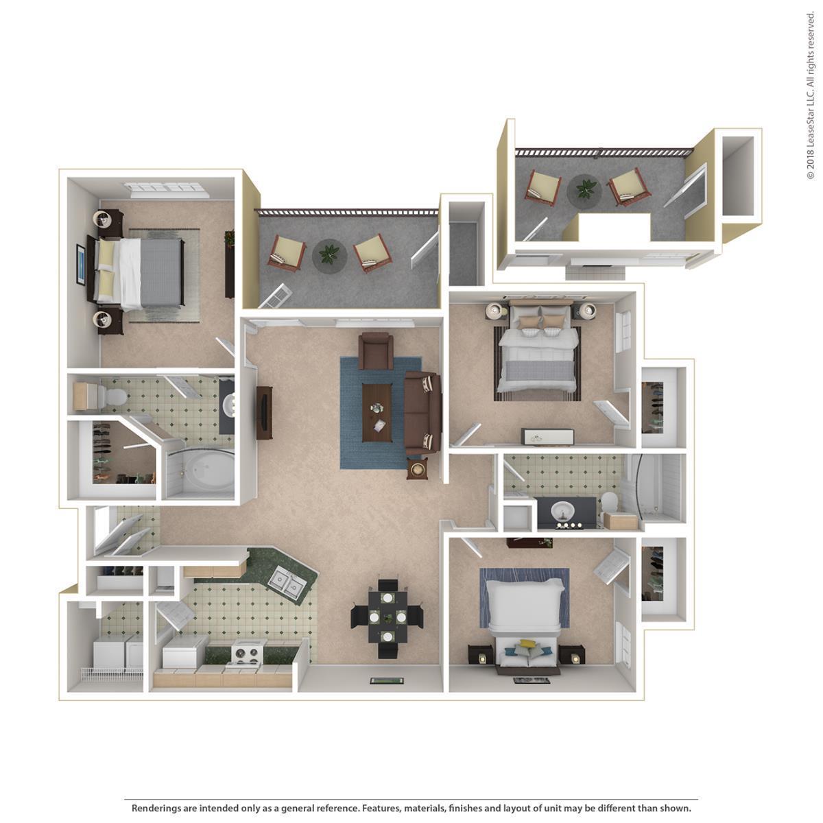 1,267 sq. ft. Churchill floor plan