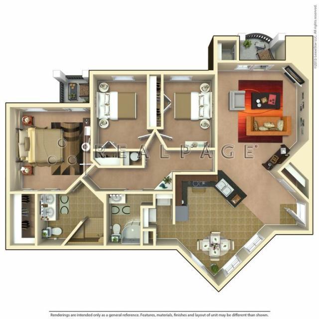 1,300 sq. ft. Homestead floor plan