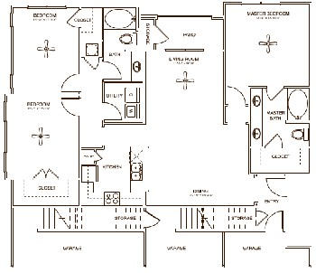 1,490 sq. ft. Earl floor plan