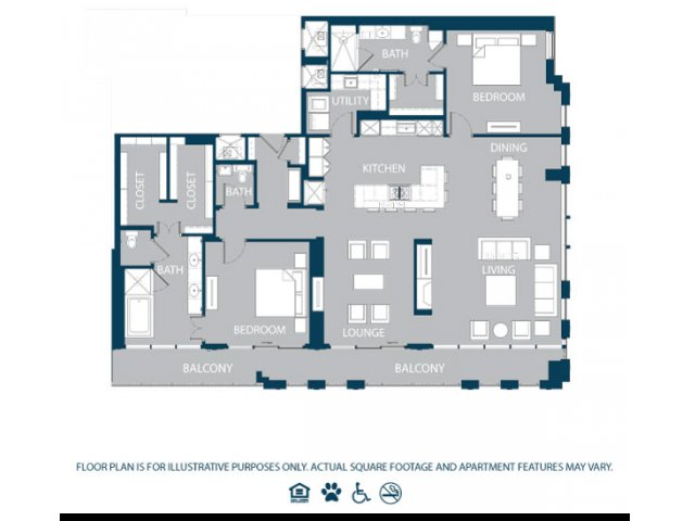 2,211 sq. ft. PH3 floor plan