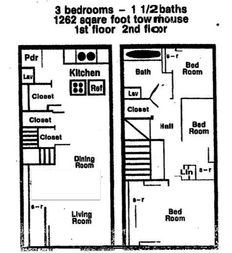 1,262 sq. ft. floor plan