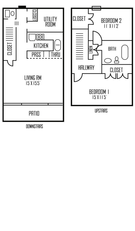 1,056 sq. ft. Capella floor plan