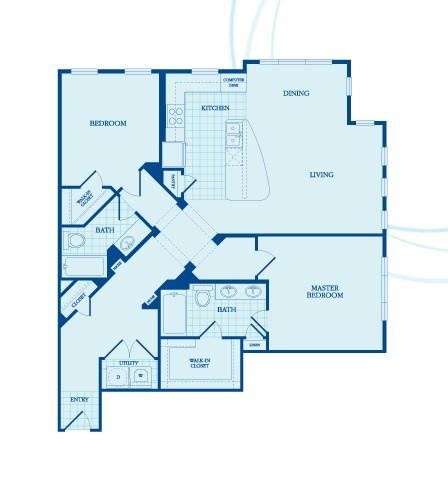 1,255 sq. ft. Montgomery floor plan