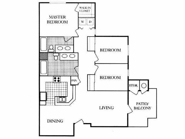 1,215 sq. ft. 50% floor plan