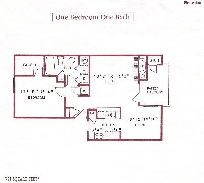 721 sq. ft. floor plan