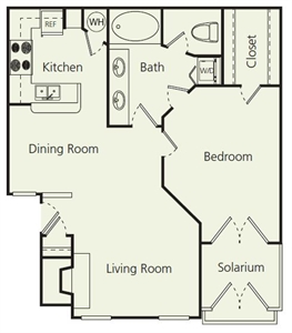 884 sq. ft. Bs floor plan