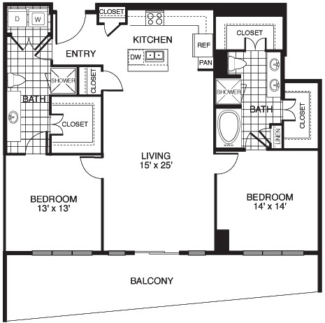 1,433 sq. ft. B9/TOWER floor plan