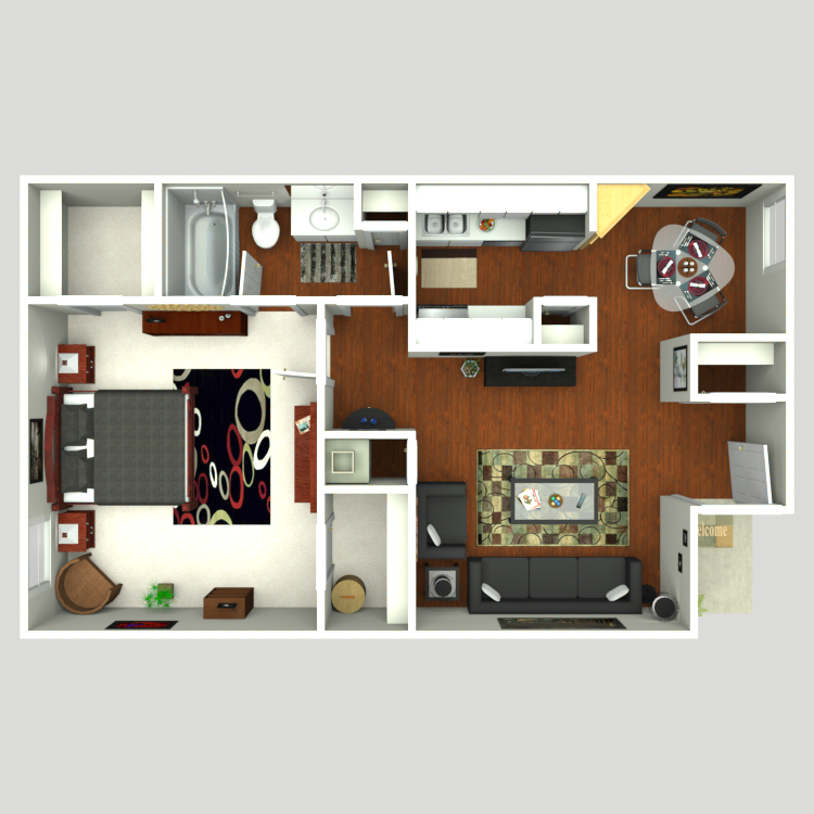 704 sq. ft. Cove floor plan