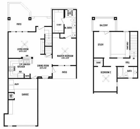 1,201 sq. ft. D floor plan