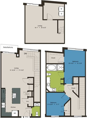 1,659 sq. ft. TSM floor plan